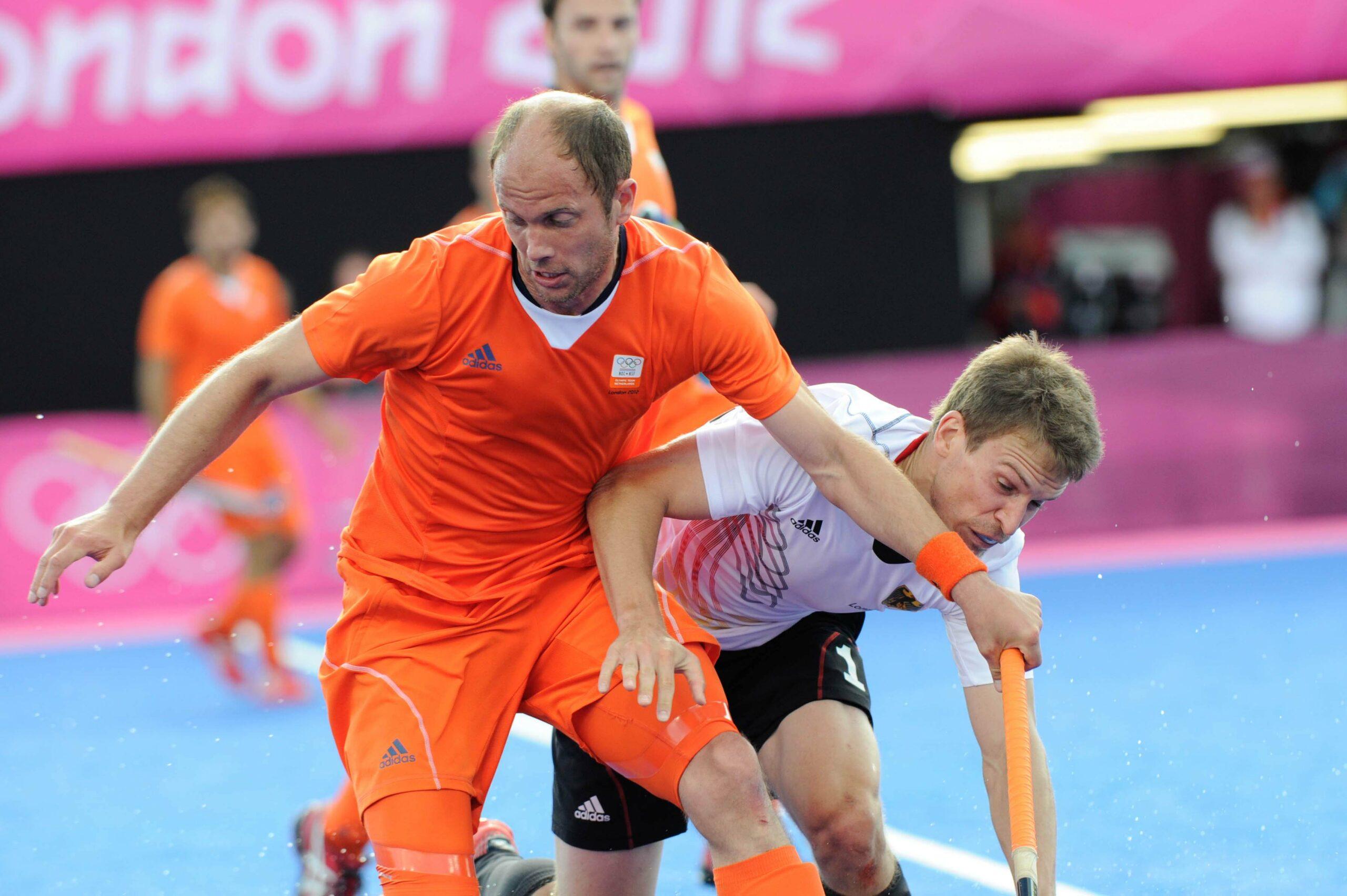 Teun de Nooijer (right) at the 2012 Olympics  (c) hockeyimages.co.uk