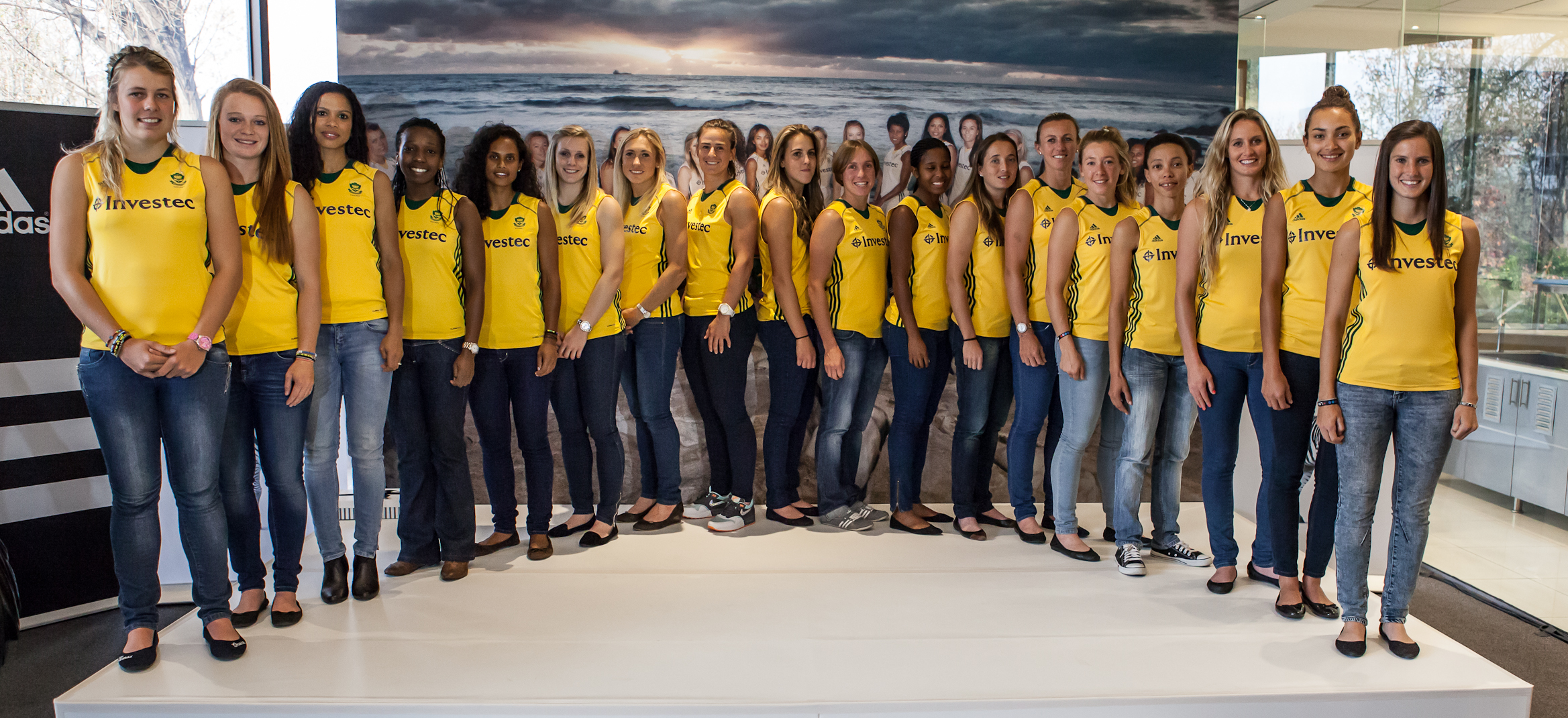 South Africa women's hockey team at Investec Bank in Johannesburg (c) Charles Johnstone