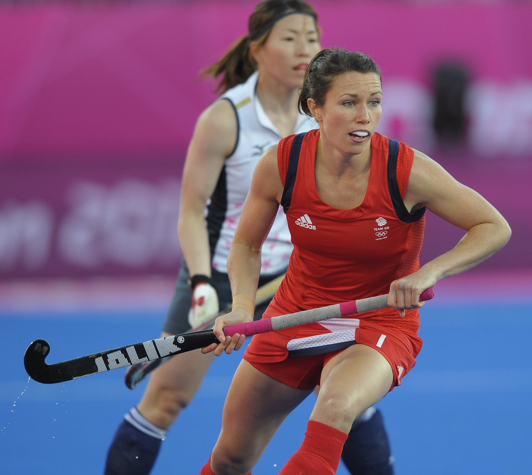 Anne Panter during the London 2012 Olympic hockey tournament (c) Ady Kerry