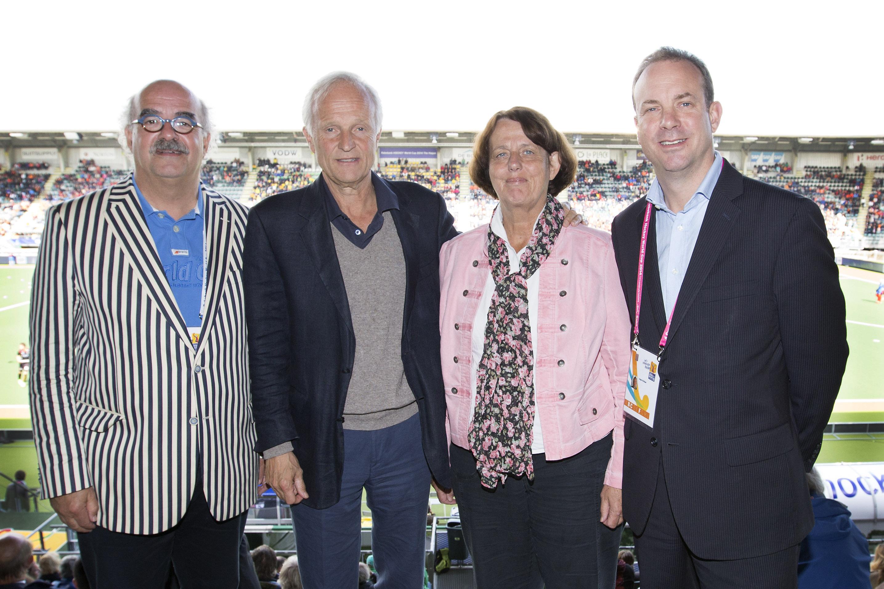(l-r) Johan Wakkie and Jan Albers (EHB), Marijke Fleuren and Angus Kirkland (EHF)